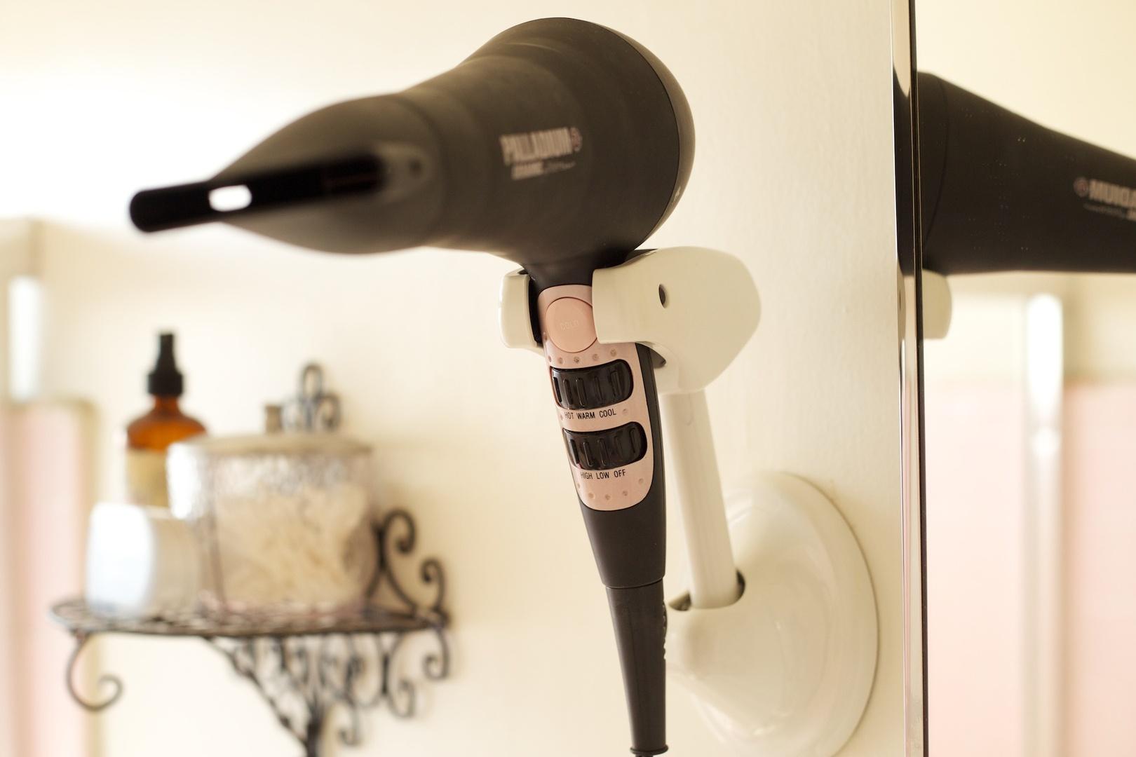 Hair Dryer Holder Wall Mount